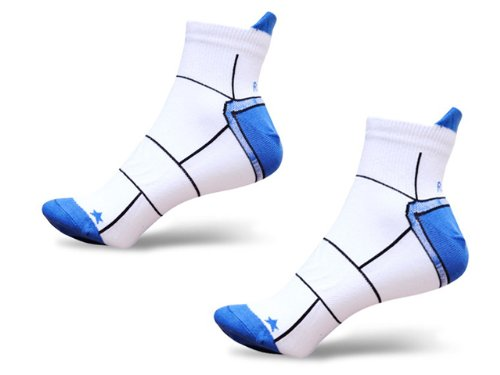 Mens Two Pair Pack RunBreeze Single Skin Low Rise Running Socks Blue