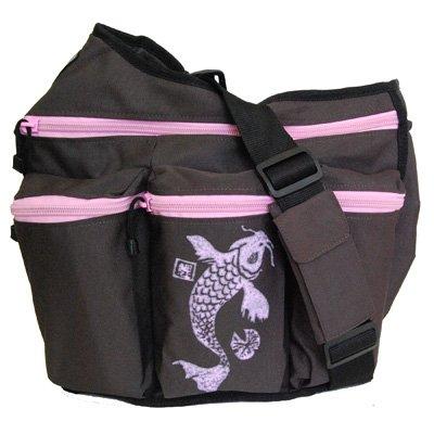 Diaper Dude Koi Diaper Bag - Brown/ Pink