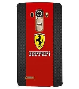 TOUCHNER (TN) Red Horse Back Case Cover for LG G4::LG G4 H815