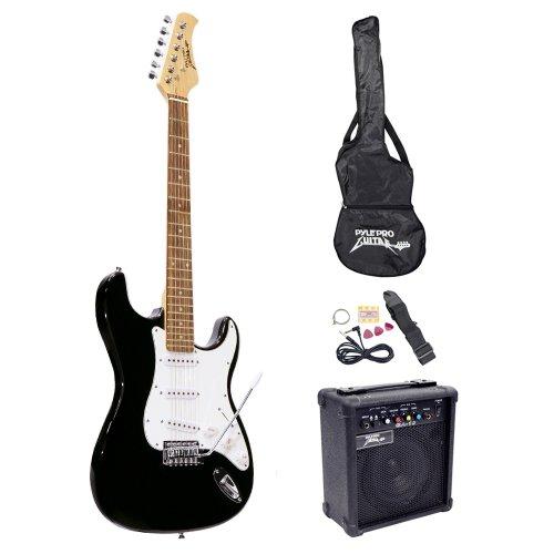 Pyle-Pro Pegkt15B Beginner Electric Guitar Package Black