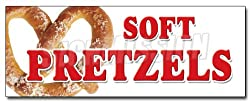 "12"" SOFT PRETZELS DECAL sticker pretzel stand cart"