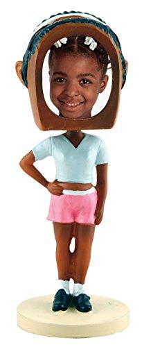 Hip Hop Girl Photo Bobble Head - Dark Skin Tone