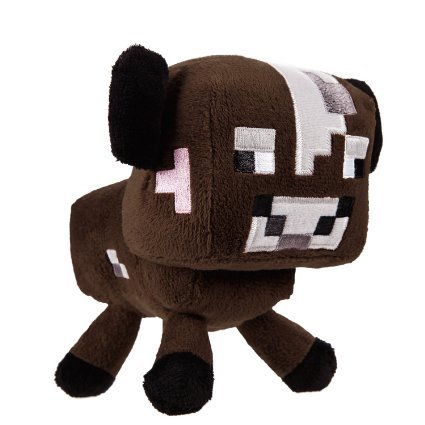 "Zoofy International Minecraft 5"" Baby Cow Stuffed Plush - 1"