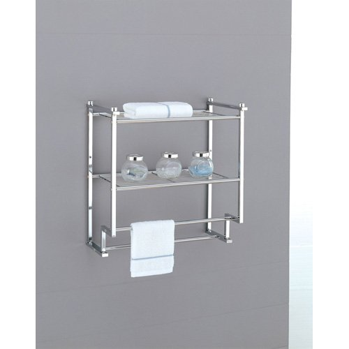 Beautiful VonHaus 4 Tier Freestanding Chrome Bathroom Storage Shelf Rack Stand