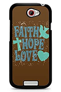 GeekCases Faith Hope Love Back Case for HTC One S