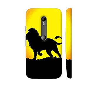 Colorpur Graphic Lion Animal Designer Mobile Phone Case Back Cover For Motorola Moto G3 | Artist: WonderfulDreamPicture