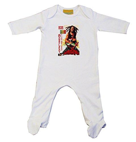 Bob Marley-Baby Grow uprising, colore: bianco