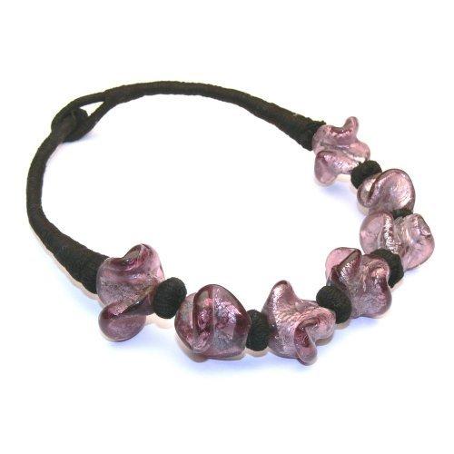 Franki Baker Pink Glass Bead Choker (15.5