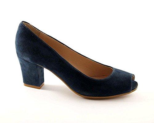 GRUNLAND BEND SC1142 royal scarpe donna decolletè spuntato camoscio 37
