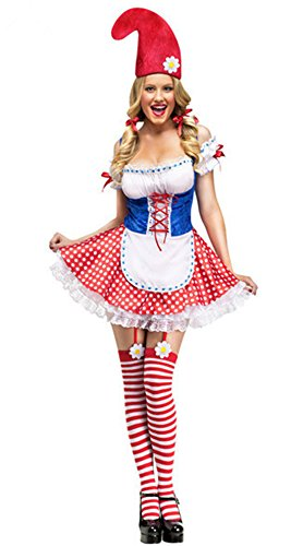 Halloween Women Lovely Clown Cosplay Servant Costume Dress Outfit