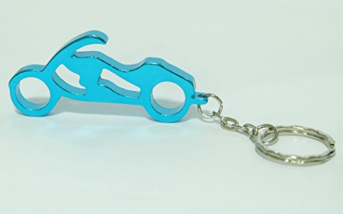 Motorcycle Keychain Ring Key Chain Bottle Openers Beer Bottle Opener Bar Small Beverage (1 piece) (Light Blue) (Bottle Opener Keychain Disney compare prices)