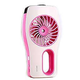 Generic Mini Rechargeable Battery Handheld USB Sprayer Fan Pink