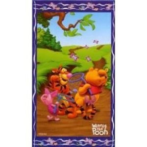 Childrens/Kids Disney Winnie the Pooh 100% cotton beach towel (75 x 150 cm)