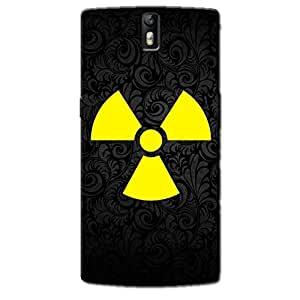 RADIATION SIGN BACK COVER FOR ONE PLUS ONE