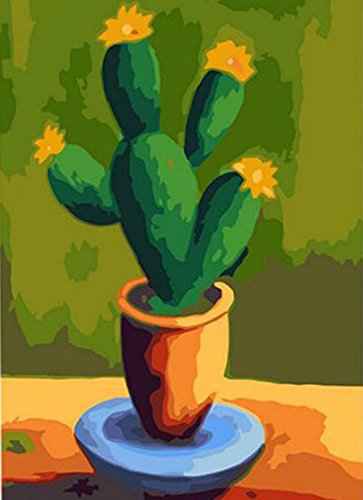 Greek Art Paintworks Paint Color By Number Kits,Cactus,16-Inch by 20-Inch (Paint By Number Cactus compare prices)