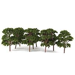 Generic 10pcs Banyan Trees Model Train Scenery Landscape Scale 1:75 Dark Green