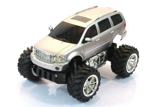 RC-OFF-Road-Chrysler-Aspen-Monstertruck-Mastab-122-ferngesteuert-komplett-Set-Farbe-silber-LIZENZ-NACHBAU