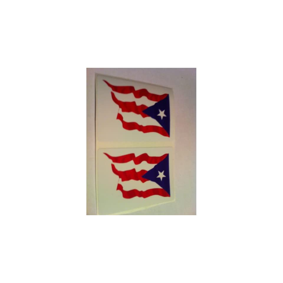 Puerto Rico Flag Car Bumper Sticker Decal