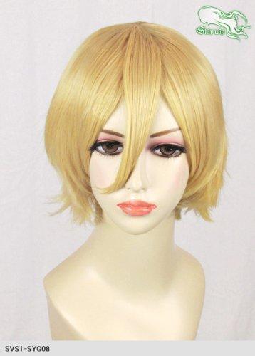 スキップウィッグ 魅せる シャープ 小顔に特化したコスプレアレンジウィッグ マニッシュショート ダークゴールド