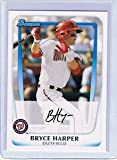 2011 Bowman Prospects Baseball Card # BP1 Bryce Harper RC - Washington Nationals (RC - Rookie Card) MLB Trading Card in Screwdown Case