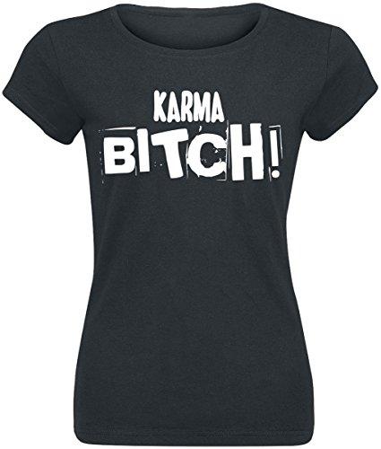 Karma Bitch! Maglia donna nero XXL