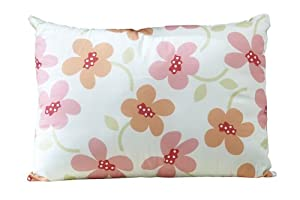Sumersault Hannah Decorative Pillow - Blue and Coral