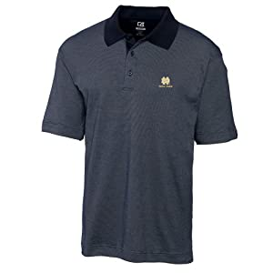 NCAA Mens Notre Dame Fighting Irish Navy Blue Drytec Resolute Polo Tee by Cutter & Buck