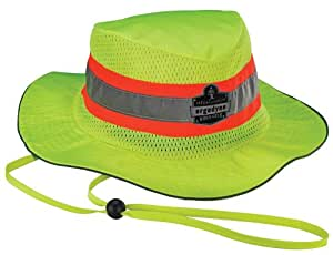 Ergodyne Chill-Its 8935CT Evaporative Class Headwear Hi-Vis Ranger Hat with Cooling Towel Material, Large/X-Large