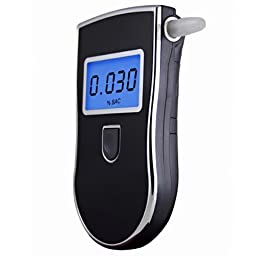 Simple-To-Use Breath Alcohol Tester, Professional Portable Breathalyzer with LCD Display and 10 Mouthpieces, Fit for Drivers, Breast-feed Mothers and Pregnant Women
