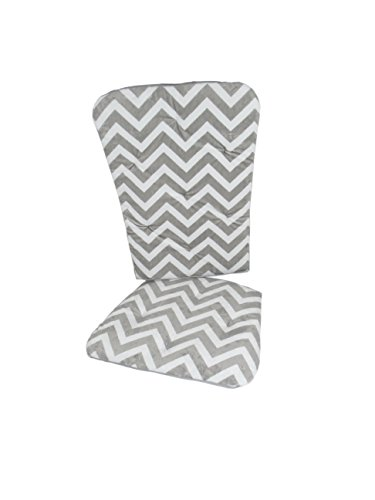 Baby Doll Minky Chevron Rocking Chair Pad, Grey