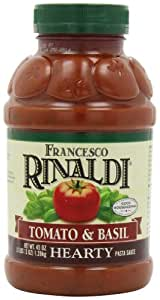 Francesco Rinaldi Hearty Tomato Basil Pasta Sauce Jars, 45-Ounce (Pack of 4)