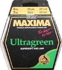 Maxima One Shot Spool (4-Pound Test ), Green, 280-Yard by Maxima Fishing Line