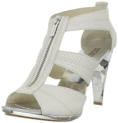 Michael Michael Kors Women's Berkley T-Strap Sandal,Dove White,7.5 M US