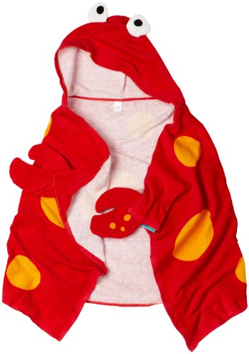 Stephen Joseph Little Boys' Hooded Towel, Crab, One Size