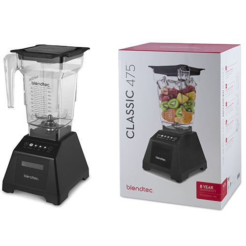 Blendtec Red Classic 475 Counter Top Electric Blender - 1475 WATTS - 3.0 PEAL HP (Blendtec 475 Classic Blender compare prices)