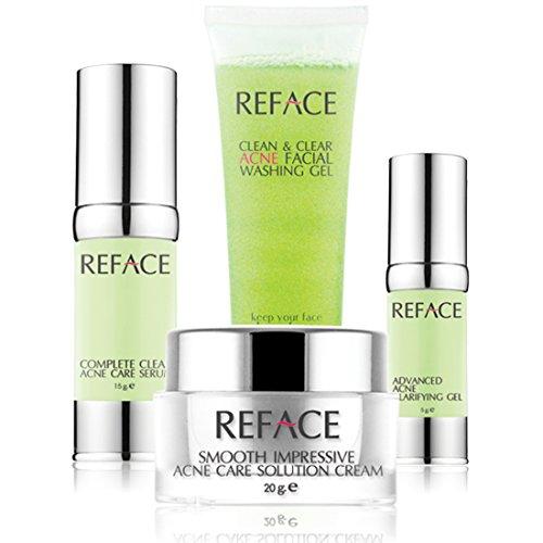 Reface Acne Set Facial Rejuvenation And Acne Complete Step Skin Care.
