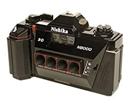 Nishika N8000 35 mm Quadrascopic Stereo 3D Lenticular Camera