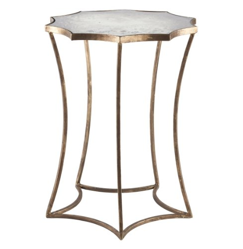 Cheap Astre Antique Gold Leaf Star Shaped Mirrored Side End Table (F187)