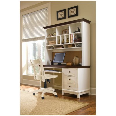Buy Low Price Comfortable Lea Industries Sterling Pointe-Computer Desk with Optional Hutch – ADL2982 (B004MZWZO8)