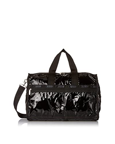 LeSportsac Medium Weekender Duffle Bag, Black Patent