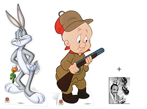 fan-pack-bugs-bunny-et-elmer-fudd-looney-tunes-grand-silhouette-en-carton-standee-stand-up-double-pa