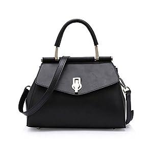 Kattee Ladies Pure Color Leather Hobo Tote Shoulder Bag