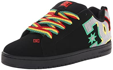 DC Men's Court Graffik SE Shoe,Rasta Gradient,3 M US