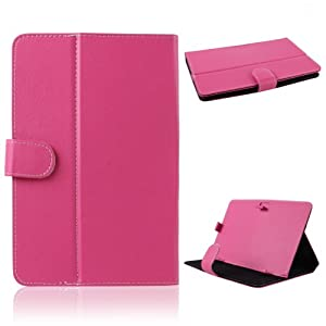 NSSTAR Folio Leather Stand Flip Protection Guard Case Cover For 9-inch Android Tablet (9 Inch:Hot Pink) from NSSTAR