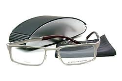 Porsche Design Rectangular Grey Eyeglasses porsche design P8167 C