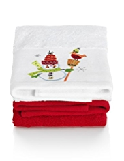 2 Christmas Design Guest Pack Towels