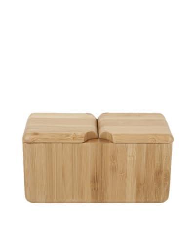 Core Bamboo Double Square Salt Box, Natural