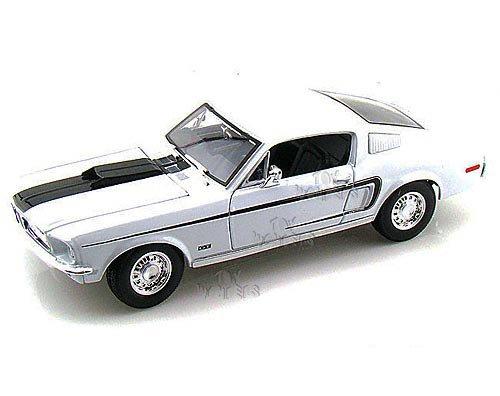 Maisto - Ford Mustang GT Cobra Jet Hard Top (1968, 1:18, White)