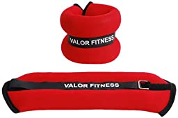 Valor Fitness EA-11 Ankle/Wrist Weight Pair, 3-Pound