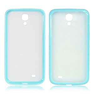 Sky Blue RML-TPU Bumper With Matte Hard Back Case Cover for Samsung Galaxy Mega 6.3 i9200